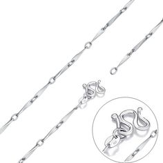 JEWELLERY WHOLESALE   925 Sterling Silver Twisted Long Link Chains 6 Size Lengths All 1 Low Price   FREE DELIVERY