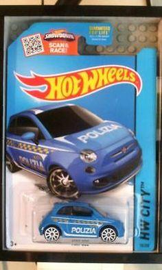 Hotwheels Treasure Hunt Fiat 500 HW City Says - Polizia Police - http://hobbies-toys.goshoppins.com/diecast-toy-vehicles/hotwheels-treasure-hunt-fiat-500-hw-city-says-polizia-police/