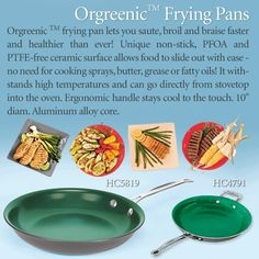 Orgreenic Frying Pans Frying Pans, Canning, Healthy, Gifts, Food, Skillets, Meal, Eten, Meals