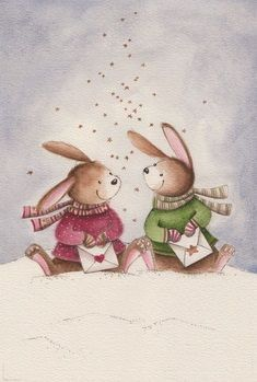 Ideas For Music Ilustration Kids Drawings Illustration Inspiration, Illustration Noel, Winter Illustration, Christmas Illustration, Illustrations, Christmas Drawing, Christmas Art, Lapin Art, Illustration Mignonne