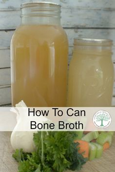 lots of nutritious bone broth on hand at all times by canning it for later! The Homesteading Hippy via lots of nutritious bone broth on hand at all times by canning it for later! The Homesteading Hippy via Home Canning Recipes, Canning Tips, Canning Soup, Canning Food Preservation, Preserving Food, Real Food Recipes, Cooking Recipes, Canned Food Storage, Protein