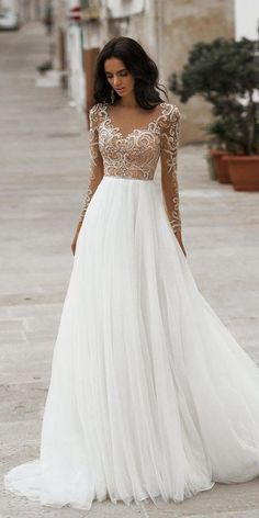 Best Lace Wedding Dresses With Sleeves ★ #bridalgown #weddingdress