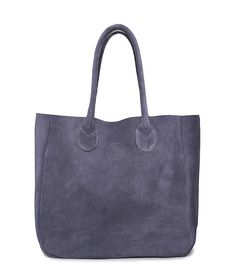 leather tote bag/ Navy blue large tote bag/ by TESLeatherDesign
