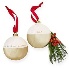 2015 Glass Ornament, Eat, Drink & Be Merry #makeyourmark