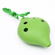6 holes 5 Color Plastic Mini Ocarina Alto C Ocarina Musical Instrutment Flute For Music Lover Kids Gift
