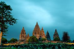 Prambanan;   Prambanan is the largest Hindu temple compound in Central Java in Indonesia, located approximately 18 km east of Yogyakarta.