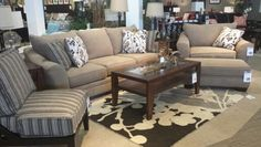 Mykla living room with deagan tables