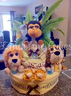 Another Jungle Themed Diaper Cake