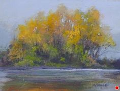 "AlongThe Shore by Kathy McDonnell Pastel ~ 6"" x 8"""