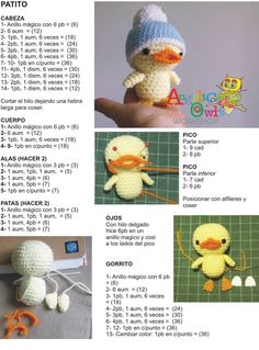 Chick with hat amigurumi pattern