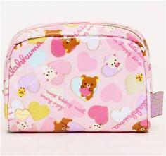 Rilakkuma bear pouch with hearts and gold glitter   Cute Bags & Purses   Pinterest   Rilakkuma, Gold Glitter and Glitter