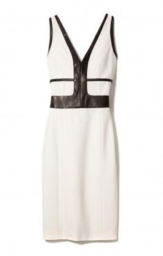Narciso Rodriguez Bond Dress with Leather Detail for Edition01