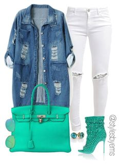 """""""Untitled #348"""" by emsdash ❤ liked on Polyvore featuring FiveUnits, Chicnova Fashion, Hermès, Ray-Ban and Christian Louboutin"""