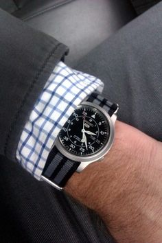 I really like this with the James Bond Nato strap.