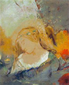 Ophelia by Odilon Redon :: artmagick.com