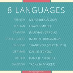 How to say thank you (very much) in 8 languages