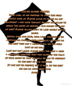 Color Guard Prayer Marching Band Quotes, Marching Band Problems, Flute Problems, Color Guard Shirts, Color Guard Uniforms, Colour Guard, Color Guard Flags, Color Guard Quotes, Band Jokes
