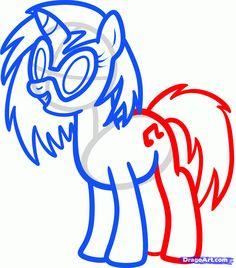 How To Draw Mlp | how to draw dj pon, my little pony step 6