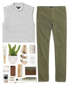 """Graphite"" by tamimpala ❤ liked on Polyvore featuring Birkenstock, Monki, Lux-Art Silks, rag & bone, Madewell, Paul & Joe, Korres, Incase and The Body Shop"