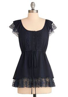 Modcloth: Meet the Family Top: $40. This could look good, the dark color isn't that great, but I like the sleeves.