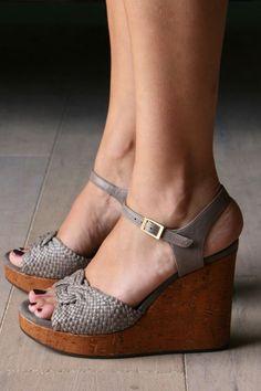 1ef7cbba06d I love wedges! Grey WedgesWedding ShoesBridal ShoesSuede ShoesBridesmaid  SandalsBridesmaidsBridesmaid ...