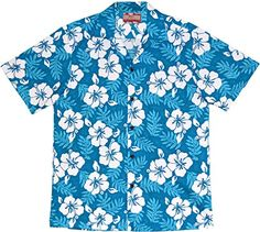 4a36d500 RJC Men's Tropical Hibiscus Hawaiian Shirt at Amazon Men's Clothing store:
