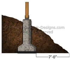 Deck Footing On A Slope Grade
