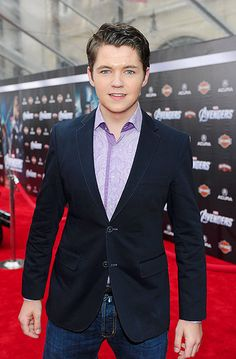 Damian McGinty from Glee!  That's what they said. FROM GLEE! WHAT!!!?? WE KNEW HIM BEFORE THEN