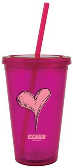 vessel drinkware - twisted heart reusable to-go cup