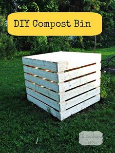 How to make a wooden compost bin DIY tutorial plus 9 easy, practical and affordable garden building projects.