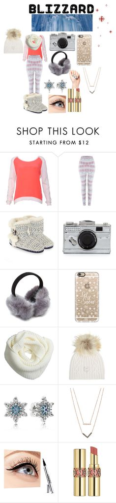 """""""Blizzard"""" by leena-sabagh ❤ liked on Polyvore featuring Columbia, Sandro, Accessorize, Kate Spade, Casetify, M. Miller, Pandora, Michael Kors, Luminess Air and Yves Saint Laurent"""