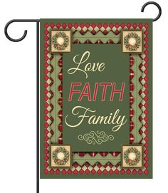 Christmas Love Faith & Family - Garden Flag - 12.5'' x 18'' - Custom Printed Flags   Flagology.com
