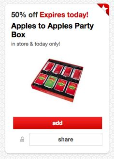 Apples to Apples Party Box for just $6.99 at Target!