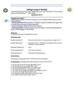 Week 4 syllabus (page one)