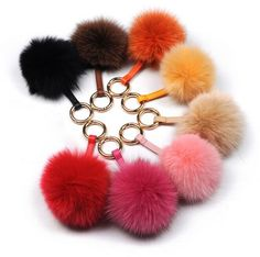 Luxury Fox fur keychain