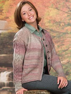 """If you're not a fan of sewing, then you will love this sweater. The sleeves and saddle shoulder are joined as you knit the body. This e-pattern was originally published in New Directions in Knitting. Size: Includes Woman's S through XL. Made with medium (worsted) weight yarn and size 6/4mm needles and size 9/5.5mm straight and 29"""" circular needles. Skill Level: Intermediate"""