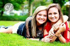 Fun senior shot with best friends, #Senior, #Teengirl, #BFFpose www.crystaljphotos.com