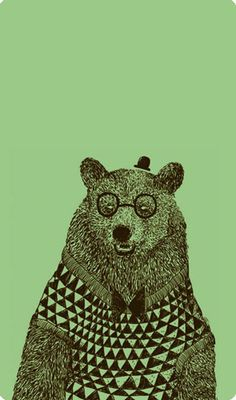 this bear wears glasses