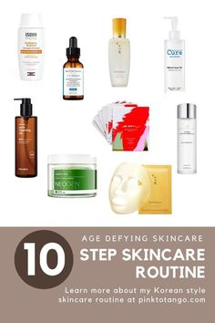 10 Step Skincare routine Skincare For Oily Skin, Best Skincare Products, Skin Products, Organic Skin Care, Natural Skin Care, Oily Skin Treatment, The Ordinary Skincare, How To Get Rid Of Acne, Anti Aging Skin Care