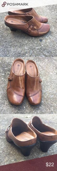 Clogs NEW Earth spirit leather clogs basically new only few times worn says eur 41 us 9 fits like 9.5 earth spirit Shoes Mules & Clogs