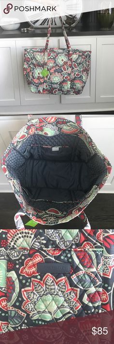 Vera Bradley Get Carried Away Tote Nomadic Floral New Vera Bradley Get Carried Away Tote Nomadic Floral!! You can pack A LOT in this great sized tote. Perfect for a weekend trip!! Vera Bradley Bags Totes