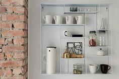 #open #shelves #shelving #storage #avohylly #kitchen #shelv #shelving #terracotta #brick
