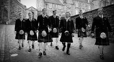 Scottish groomsmen shots