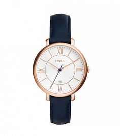 Fossil Jacqueline Three-Hand Date Leather Watch - Pour moi