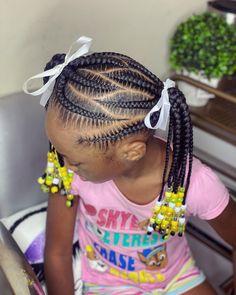 Black Kids Braids Hairstyles, Little Girls Natural Hairstyles, Easy And Beautiful Hairstyles, Toddler Braided Hairstyles, Lil Girl Hairstyles, Braids For Black Hair, Little Girl Braid Styles, Hair Twist Styles, Kid Braid Styles