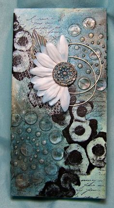 canvas art simple, abstract canvas painting, diy canvas sign turquoise canvas, painting canvas tips, big canvas art Mixed Media Painting, Mixed Media Canvas, Mixed Media Collage, Mixed Media Artwork, Mixed Media Journal, Altered Canvas, Altered Art, Altered Tins, Art Altéré