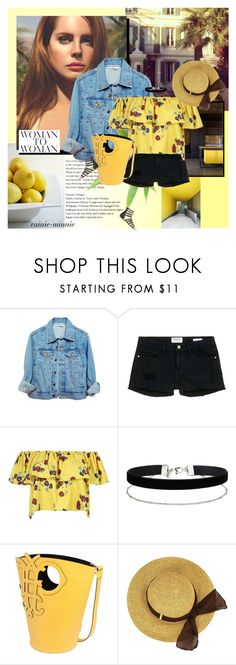 """Lana Del Ray"" by rainie-minnie ❤ liked on Polyvore featuring Frame Denim, WithChic, Miss Selfridge and Emilio Pucci"