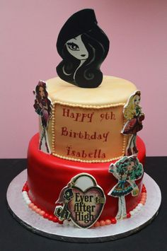 Ever After High Cake , Isabella Laporte 9th  Birthday   by Cecy Huezo .  www.delightfulcakesbycecy.com