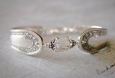 Vintage Silver Spoon Bracelet Pattern name by 2ndLifeJewels, $40.00