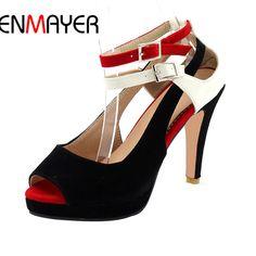 Promo $25.56, Buy ENMAYER Summer Big Size 2017 New High Quality Fashion Women's Pumps Shoes Lady High Heels Ladies Pumps Woman Dress Shoes